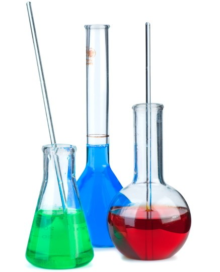 three flasks with different chemical agents pcf7t27 - Клинические испытания