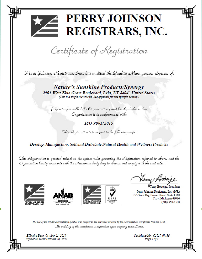 4 - Контроль качества и сертификация бад Nature's Sunshine Products